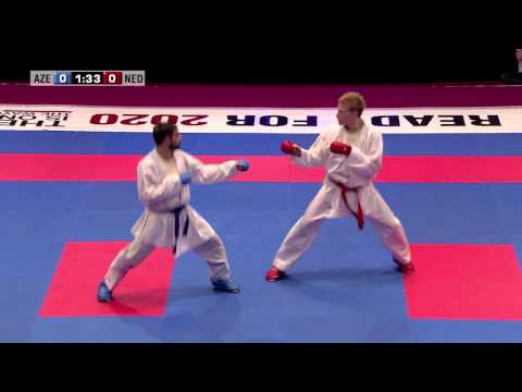 Rafael Aghayev vs René Smaal. Final Kumite Male -75kg. 48th European Karate Championships Image 1