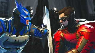 Injustice 2 - Batman vs Robin - All Intro Dialogue, Super Moves And Clash Quotes