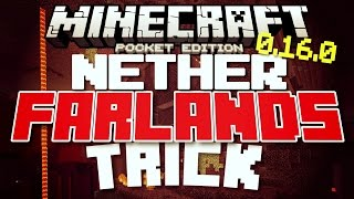 Minecraft Pocket Edition - NETHER FARLANDS! // Far Lands in Minecraft PE [MCPE]