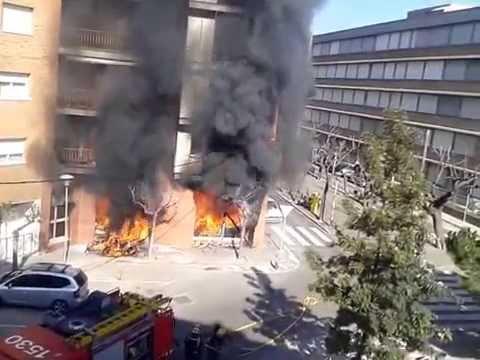 Incendio en una tienda de Sant Feliu de Llobregat