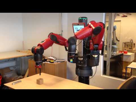 Playing with the Baxter robot – Simple pick and place with vision