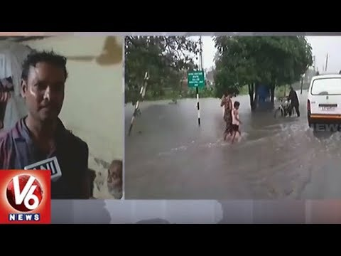 Water Logging in Gujarat's Navsari Following Heavy Rain, Water Enters Homes | V6 News