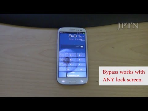 Samsung S3/Note 2 (i747 Rogers. Bell. Telus. AT&T) Lock Screen Bypass Demo/Security Hole