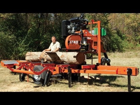 Wood-Mizer LT40 Super Hydraulic Portable Sawmill: Step up to High Production