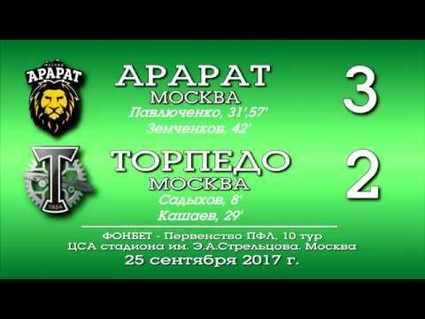 Арарат (Москва) - Торпедо (Москва) 3:2. Обзор матча