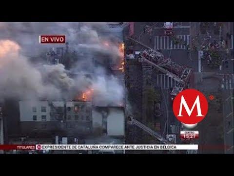ULTIMA HORA: Reportan incendio en edificio de departamentos en Nueva York