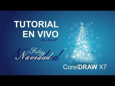 Tarjeta de Navidad 2014, Diseño Navideño en CorelDRAW X7 con @adanjp en Vivo.