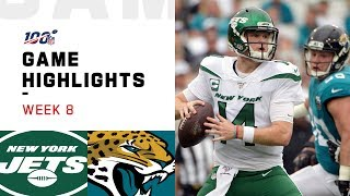 Jets vs. Jaguars Week 8 Highlights | NFL 2019