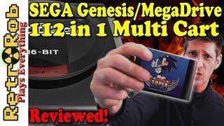 Sega Genesis / Mega Drive  Super 112 in 1 Multi Cart Reviewed!