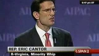 Republican Whip Eric Cantor At The AIPAC Conference
