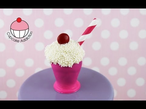 Make Soda Shop Cake Pop Milkshakes! A Cupcake Addiction How To Tutorial