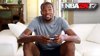 KEVIN DURANT PLAYS NBA 2K17 AGAINST RUSSELL WESTBROOK PARODY DURANT VS WESTBROOK MYPARK GAMEPLAY