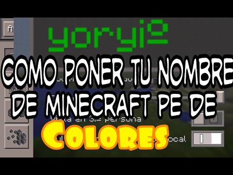 Minecraft pe pon tu nombre en colores (TUTORIAL) 0.11.x
