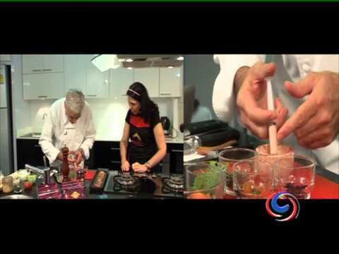 Mrs Balbir cooks with the Executive Chef of the Pullman Bangkok Hotel