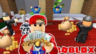 ROBLOX   Cướp Ngân Hàng Cùng Đồng Đội Đi Dubai Du Lịch   Rob the Bank Obby   Vamy Trần