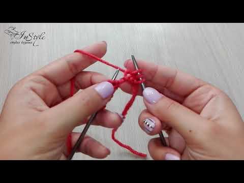 Лицевая классическая петля. Вязание спицами (Knit Stitch)
