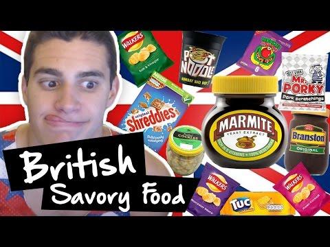 American Tries Savory British Food!!