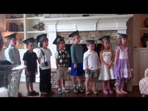 Cornerstone Kindergarten Graduation 2013 - Reading Poem