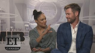 Tessa Thompson, Chris Hemsworth Talk 'Men In Black International'