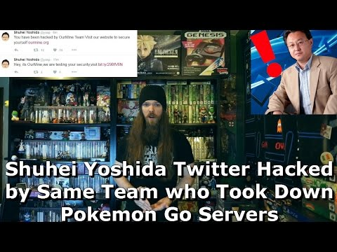 Shuhei Yoshida Twitter Hacked by Same Team who Took Down Pokemon Go Servers - AlphaOmegaSin