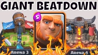 """THE BIG FUNDAMENTAL"" - Best Giant Deck for Mid-Level Arenas 3 4 5 6 in Clash Royale"