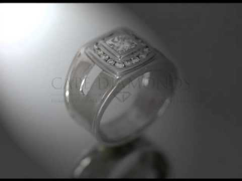 Complex stone ring,cushion diamond and fitting with round stones,bold platinum band,engagement ring