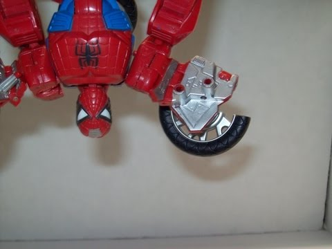 Transformers Week Day 5 Marvel Transformers Crossovers Spider-Man Motorcycle review