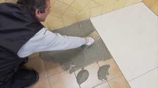 How to put in a tile shower floor