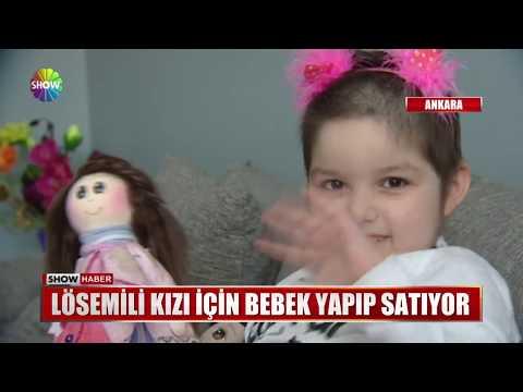 Lösemili kızı için bebek yapıp satıyor
