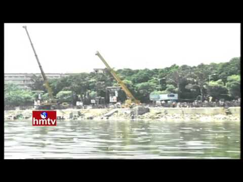 Ganesh Immersion with Big Cranes at Tank Bund | Traffic Regulations and Security in City | HMTV