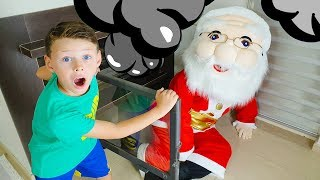 Ali and Adriana Pretend Play with SANTA CLAUS- Funny video for Kids