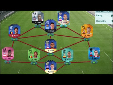Fifa 16 The Most Expensive Hacked 99 Rated Squad Builder TOTY Bendtner Ultimate Team