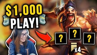 THIS COMP SWITCH WON ME $1,000?! | POKIMANE'S TFT STREAMER TOURNEY | Teamfight Tactics