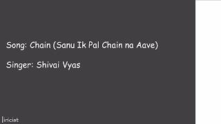 download lagu Chainn ♥️ Sanu Ik Pal Chain ♥️  Shivai gratis