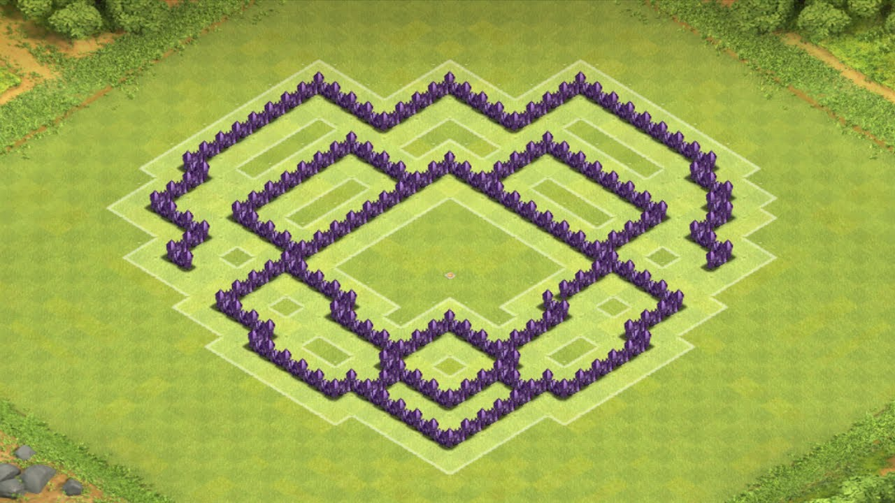 Clans town hall 7 trophy base clan war base the mantis youtube