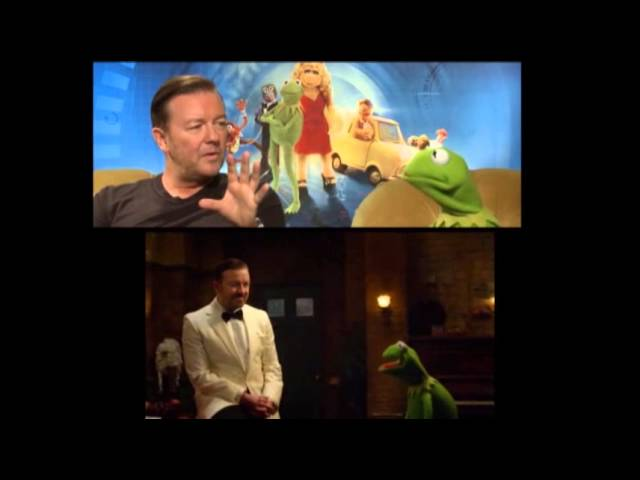 Gervais and Fey Have Fun With 'Muppets'
