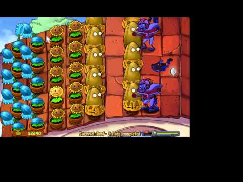 Plants vs zombies- 2 lines of Winter Melon-pult