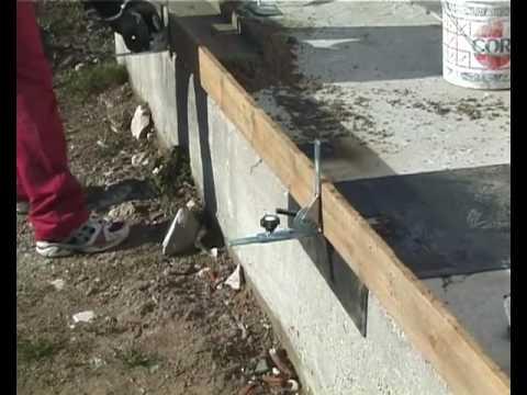 Stafix raimondi spa dispositivo per lesecuzione di for Costruire un garage su un terreno in pendenza