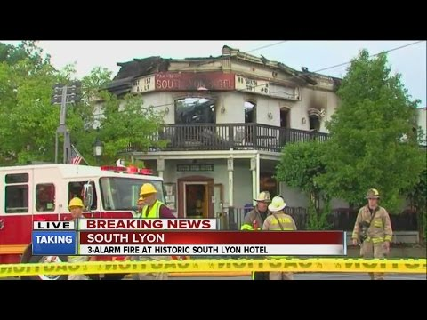 Fire at historic South Lyon Hotel restaurant
