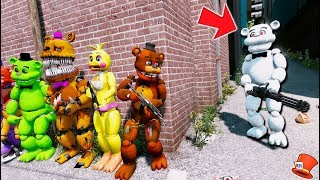 CAN THE ANIMATRONICS DEFEAT EVIL WHITE FREDDY? (GTA 5 Mods Kids FNAF RedHatter)