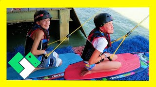 KIDS FIRST TIME KNEEBOARDING EPIC FAIL (Day 1902) | Clintus.tv