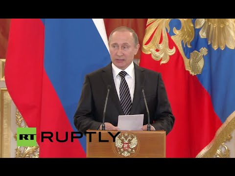 LIVE: President Putin awards Russian army personnel for special operations in Syria - ENGLISH