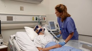 NIV Mask Fitting: Philips Respironics noninvasive hospital mask