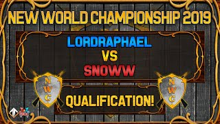 [AoE3] 🌟NWC! LordRaphael vs Snowww [QUALIFICATION SERIES] - New World Championship Qualifiers