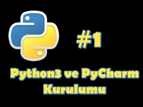 Python 3 Dersleri #1 - Python 3 ve PyCharm Kurulumu
