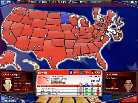 2008 Pollitical Machine: 1984 Mock Election [Walter Mondale Vs Ronald Regan]