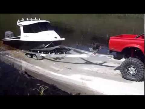 R C Aluminium Fishing Boat With Proboat Outboard Youtube
