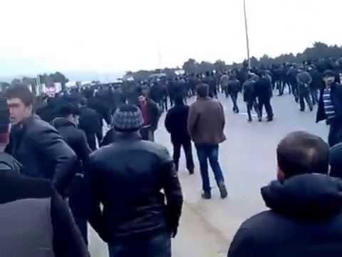 Binə ticarət mərkəzində qarşıdurma - 19.01.2013