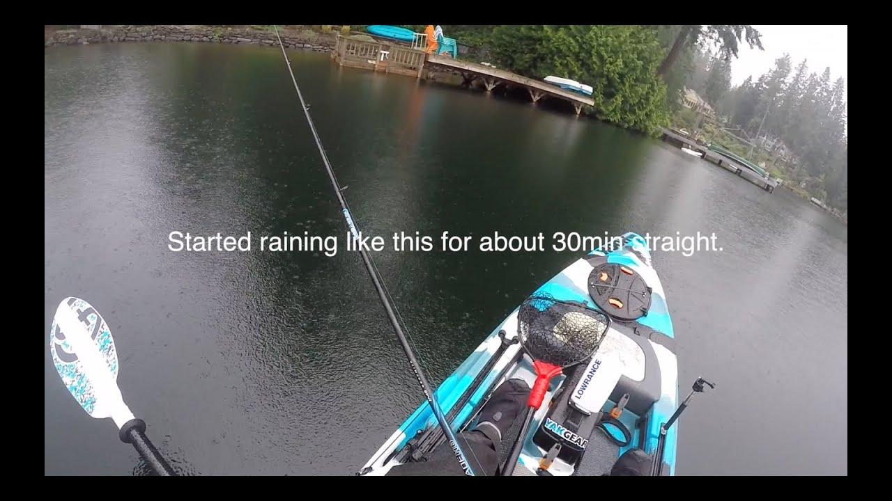 Kayak bass fishing in the rain fishing alley for Bass fishing in the rain