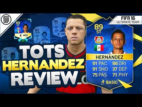 TOTS (89) JAVIER HERNANDEZ PLAYER REVIEW! - FIFA 16 Ultimate Team